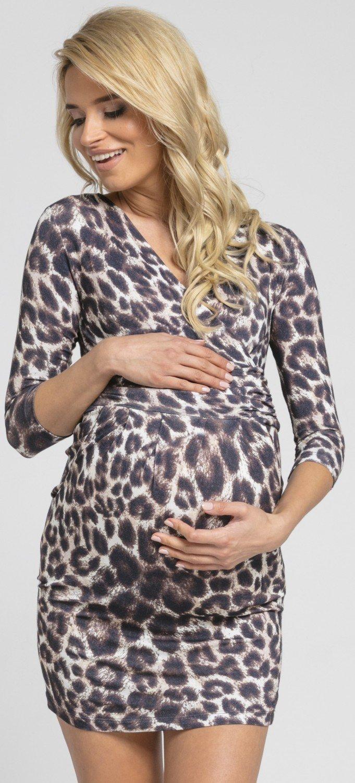 Donna. Abito elasticizzato prémaman elegante vestito con tasca. 236p  HMB maternity dr6 ingrandisci 17a8becd8ed