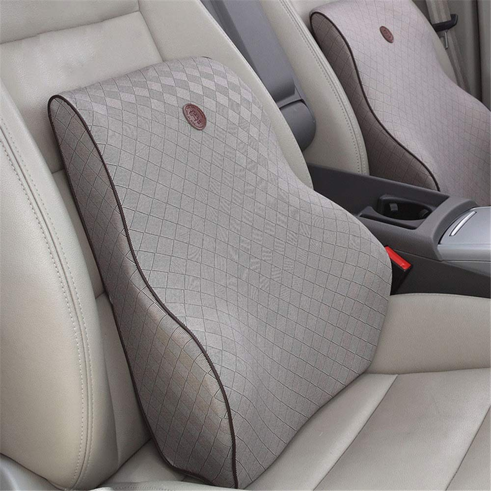 Lumbar pillow Seat Cushion Comfort Natural Latex Orthopedic Chair Pillow Back Pain Relief Sciatica Tailbone Pain Back Support Seat Cushion Office Car Sitting Pregnancy Travel Driving Seat Cushion