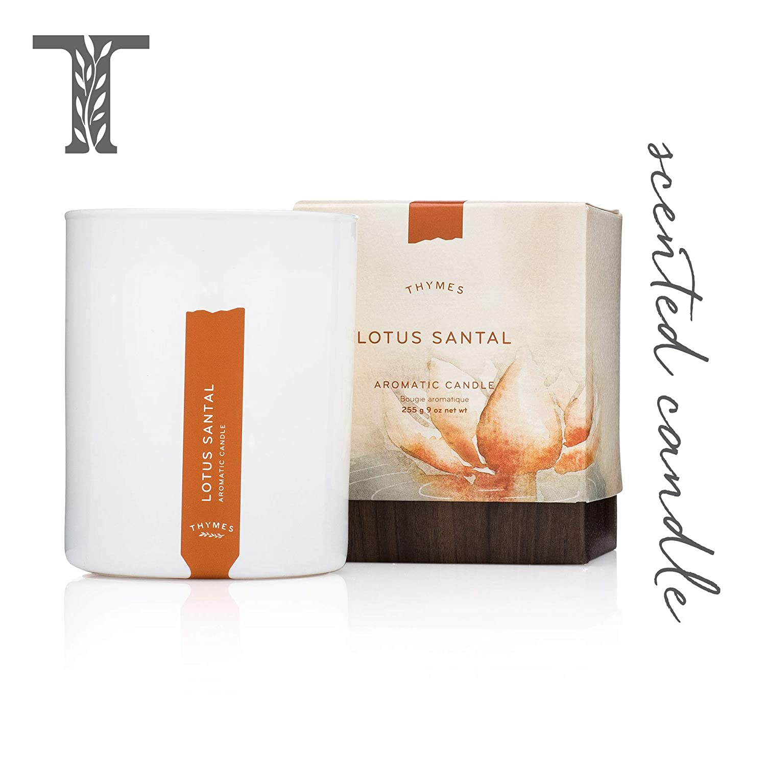 Thymes Eucalyptus Aromatic Scented Candle - Long Lasting Scent with Gift Box - 9 oz 637666041247