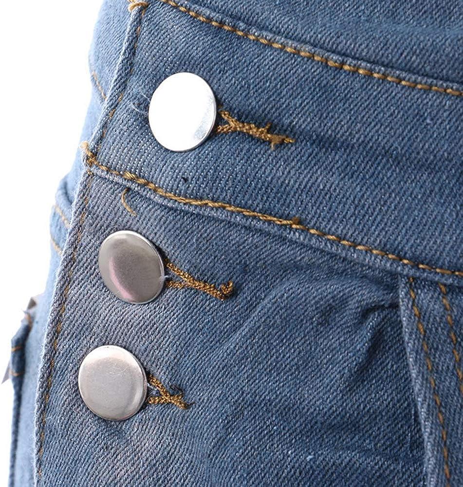 Heflashor Damen Latzhose Jeans Jeanshose Tr/ägerhose Hoseanzug Denim Gerades Bein Zerrissen Lang /Ärmellos Locker mit Taschen lang L/ässig Overall Jumpsuit Playsuit