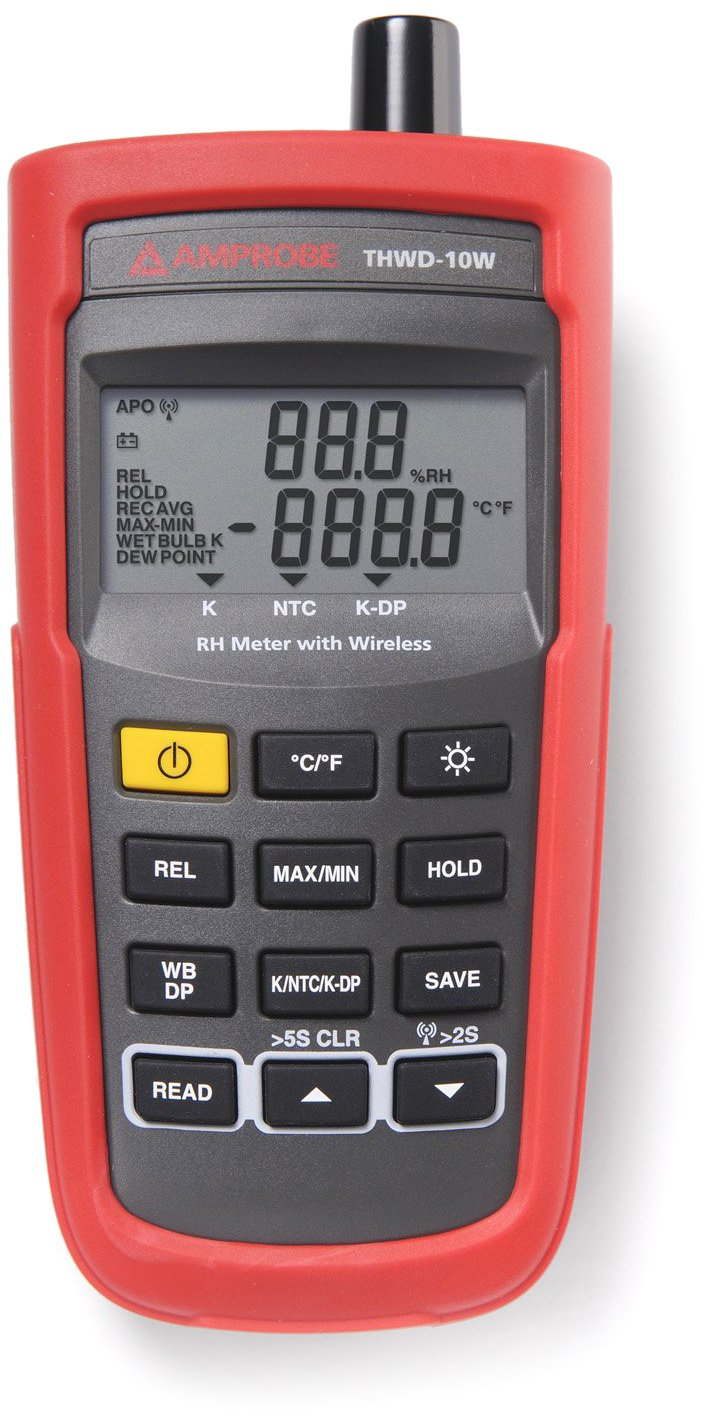 Amprobe THWD-10W Wireless Temperature and Relative Humidity Meter