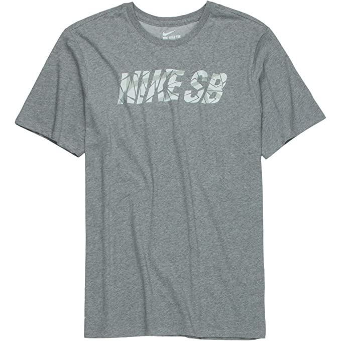 89c280fc NIKE Men's SB Fractal Short Sleeve T-Shirt Dark Grey Heather (Medium)