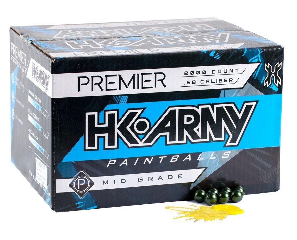 HK Army .68 caliber Premier Paintballs 2000 count