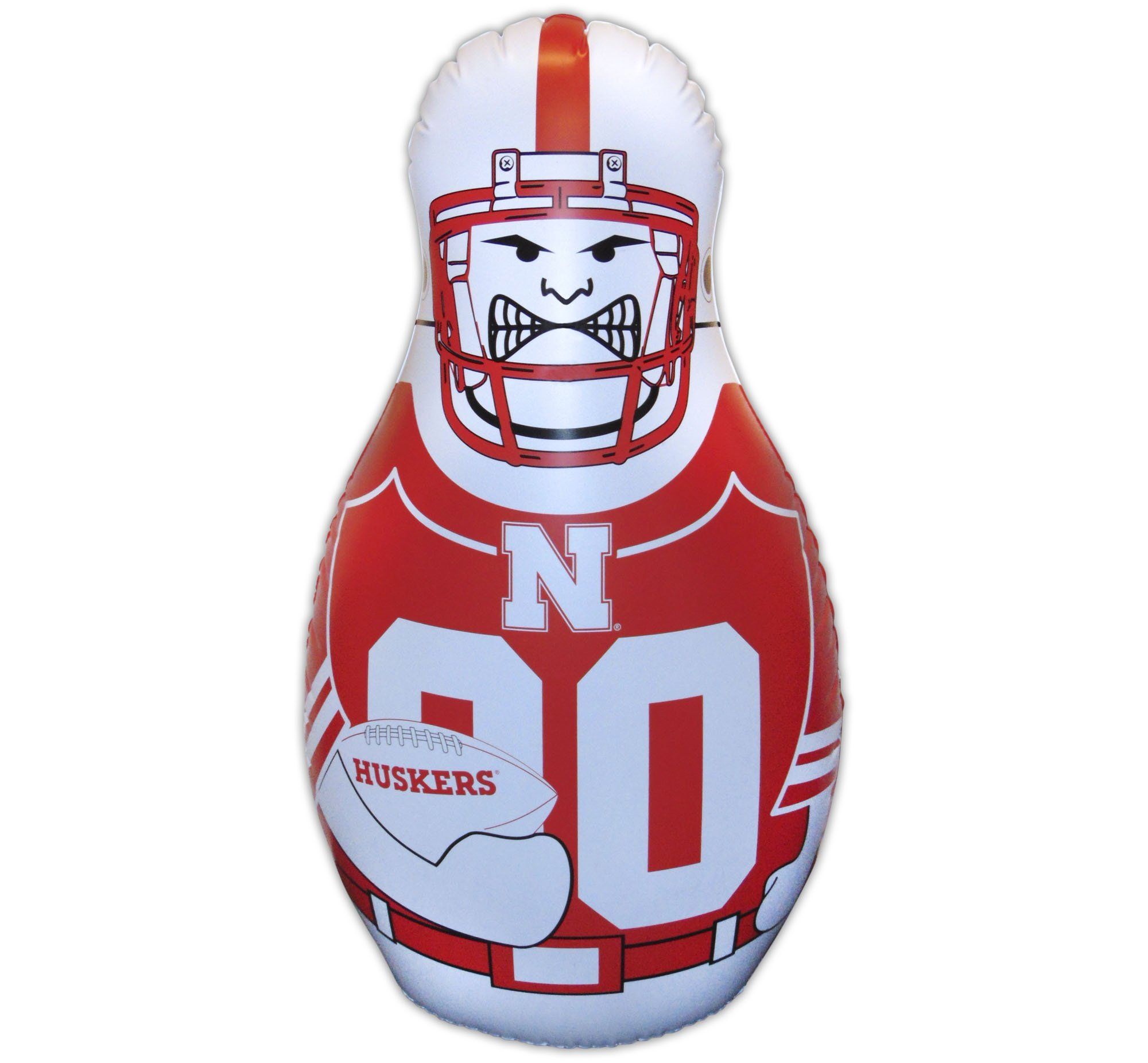 Fremont Die Nebraska Cornhuskers Tackle Buddy Bop Punching Bag