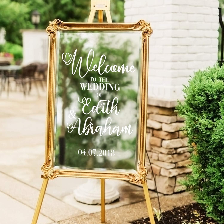 DIY Wedding Wedding Decal Wedding Decor State Love Welcome Vinyl Wedding Sign