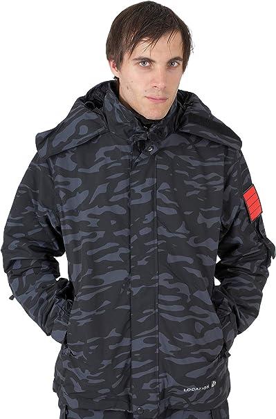 Mens New Location Bronx Waterproof Jacket Balaclava Rain Hooded Coat Technical