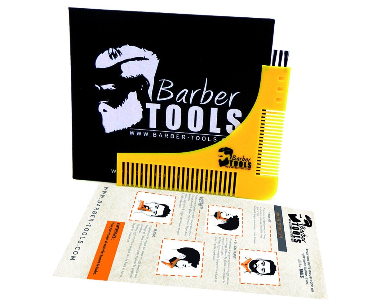 ✮ BARBER TOOLS ✮ peine plantilla contornos barba de trazador para un contorno de afeitar, con 2 peines de diferentes espacios entre los dientes, ...