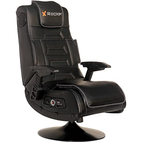 2.1 Wireless Audio Rocker Gaming Chair, Black, Built In Speakers And  Subwoofer,