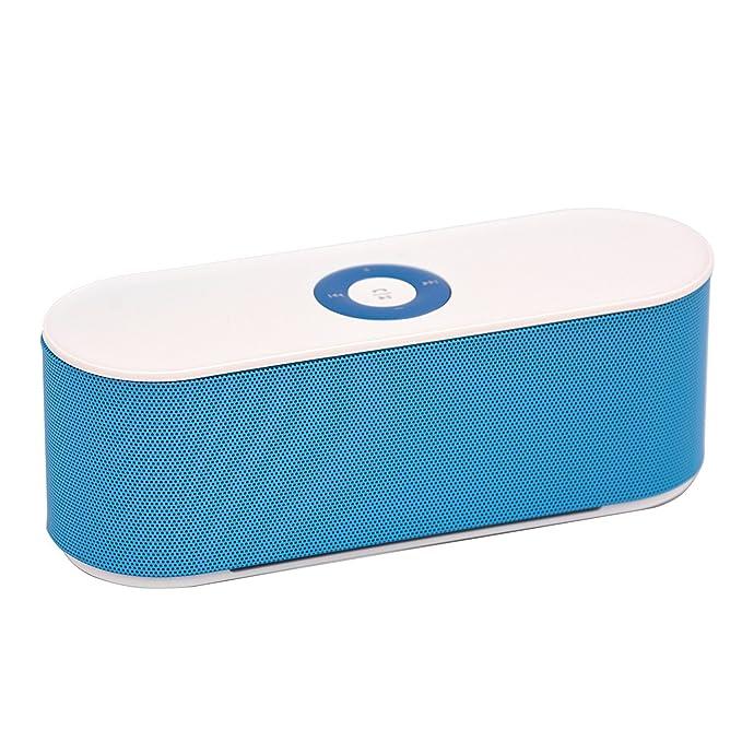 Ae zone S207 Mini Bluetooth Speaker  White and Blue  Mobile Speakers