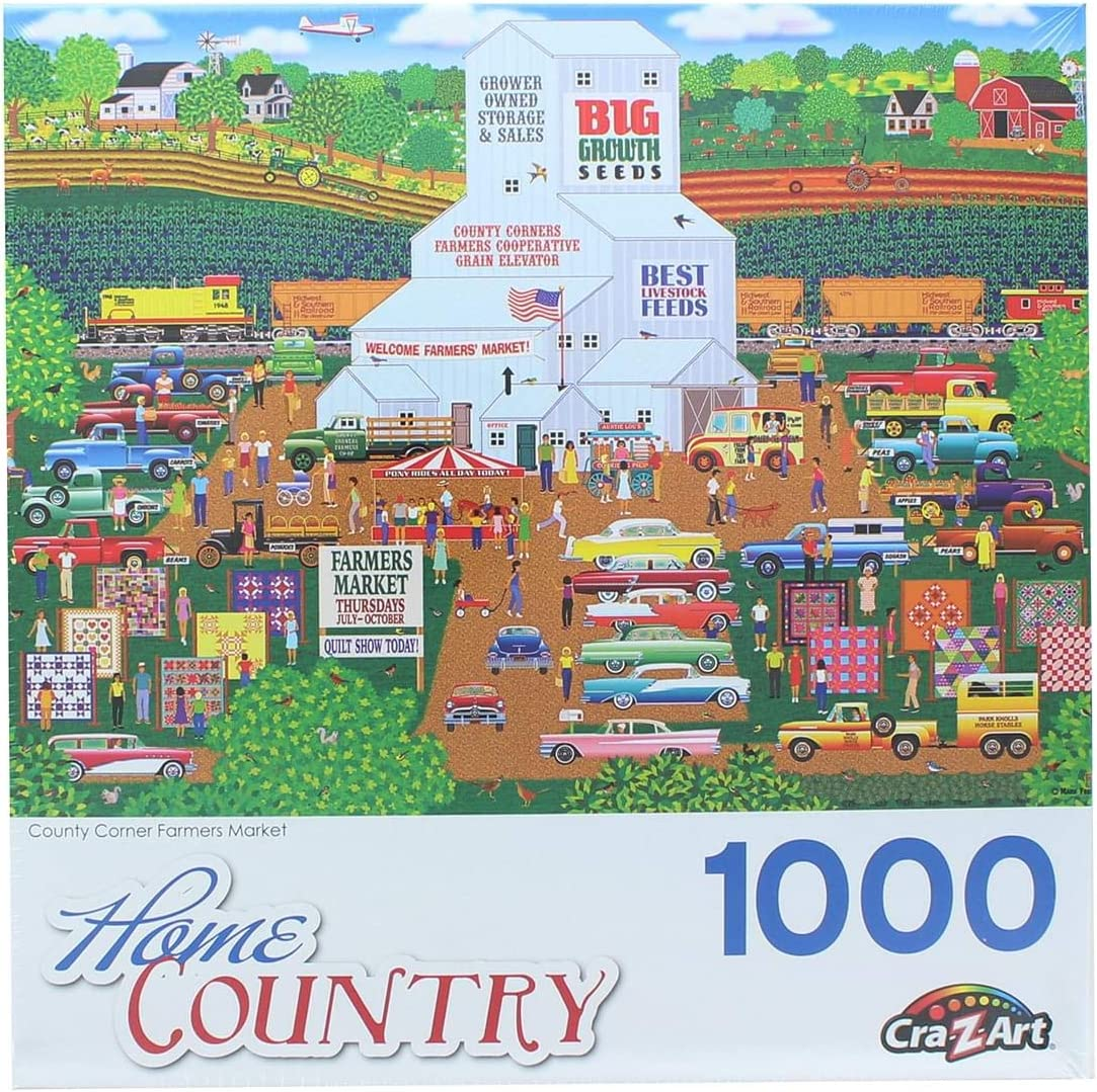 County Corner Farmers Market by Mark Frost 1000 Piece Puzzle