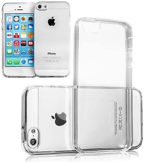 Movoja TPU Hülle kompatibel mit iPhone 5 5S Schutzhülle Crystal Case Durchsichtig Klar Silikon transparent