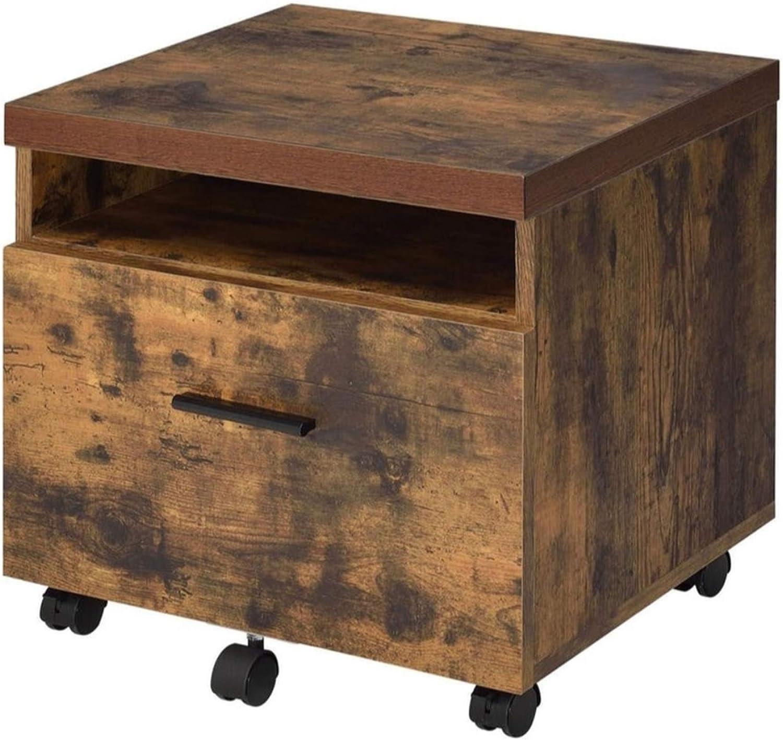 Benjara Benzara Wooden File Cabinet With Drawer, Brown,