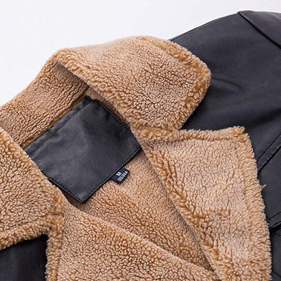 Amazon.com: Clearance Sale for Men Coat.AIMTOPPY Fashion Mens Warm Jacket Long Sleeve Plus Velvet Leather Jacket: Computers & Accessories