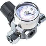 Tool Guy Republic HVLP Spray Gun Air Regulator with Pressure Gauge and Diaphragm Control
