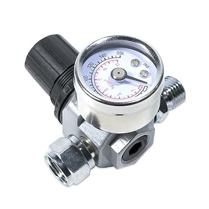 tool guy republic hvlp spray gun air regulator with pressure gauge