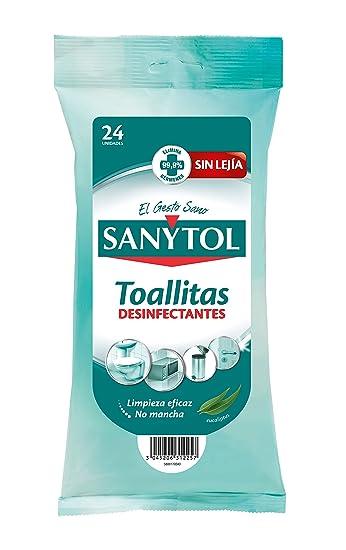 Sanytol - Toallitas Desinfectantes Multiuso, 24 uds (Paquete de 3)