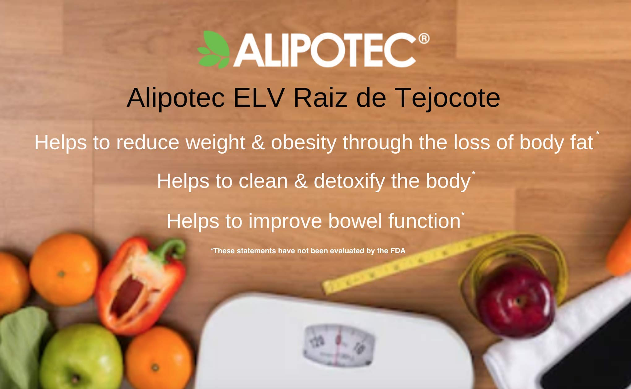 *Brand New Design* Original Elv Alipotec Tejocote Root Treatment - 1 Bottle (3 Month Treatment) - Most Popular, All-Natural Weight Loss Supplement in Mexico by Alipotec (Image #1)