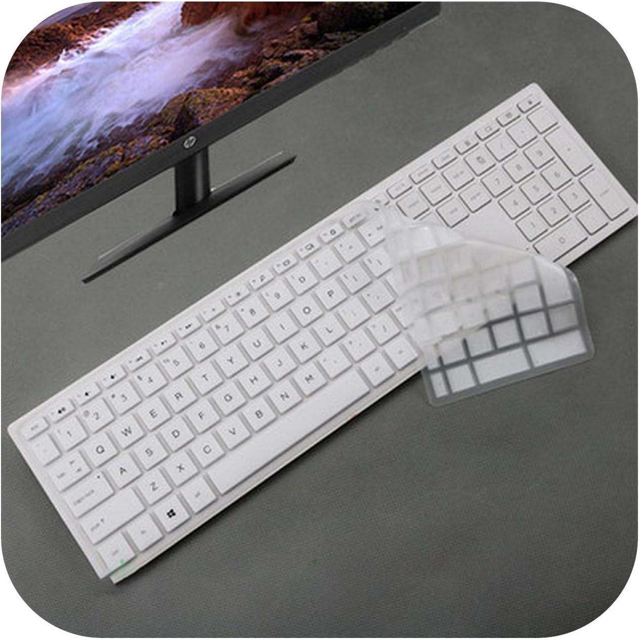 2020 Desktop Keyboard Cover Protector Skin Computer for Hp Pavilion All in One Pc 24 Xa 24 Xa0002A 24 Xa0300Nd 24 Xa0051Hk 23.8 Inch-Gradual SkyBlue