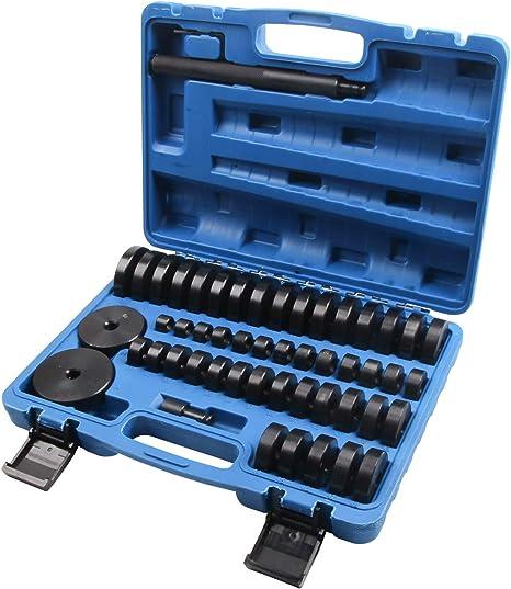 Llctools 50 Tlg Radlager Montagescheiben Radialdichtringen Buchsen Schalen Gummis Abzieher Druckstück Press Werkzeug Treibsatz 18 65 Mm Auto