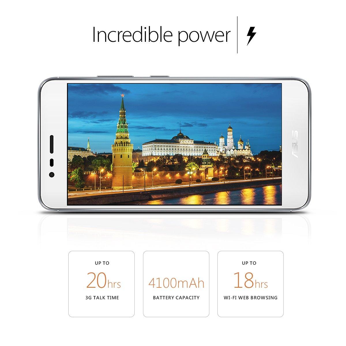 Asus Zenfone 3 Max Zc520tl Smartphone 52 Inch 16gb Zoom S Ze553kl Lte 55ampquot 4 64gb Glacier Silver Cell Phones Accessories
