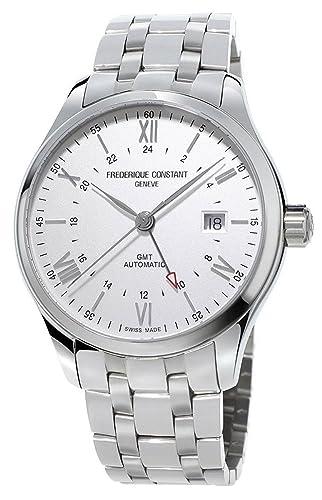 Frederique Constant Geneve Classics Index GMT FC-350S5B6B Reloj Automático para hombres Segundo Huso Horario: Amazon.es: Relojes