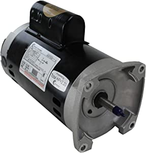 AO Smith/Century Electric PSC, Up-Rated, Single-Speed, Switchless, 2HP, 3450RPM, 230V, 10 AMPS, 1.1SERVICE Factor, Square Flange