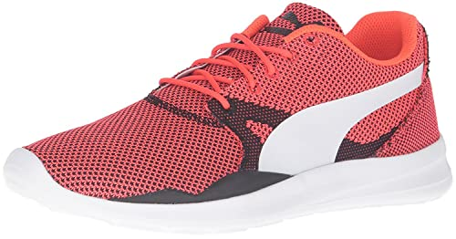 a668e9a49e0351 Puma Men s Duplex Evo Knit H2T Red Blast and Glacier Grey Sneakers - 6 UK