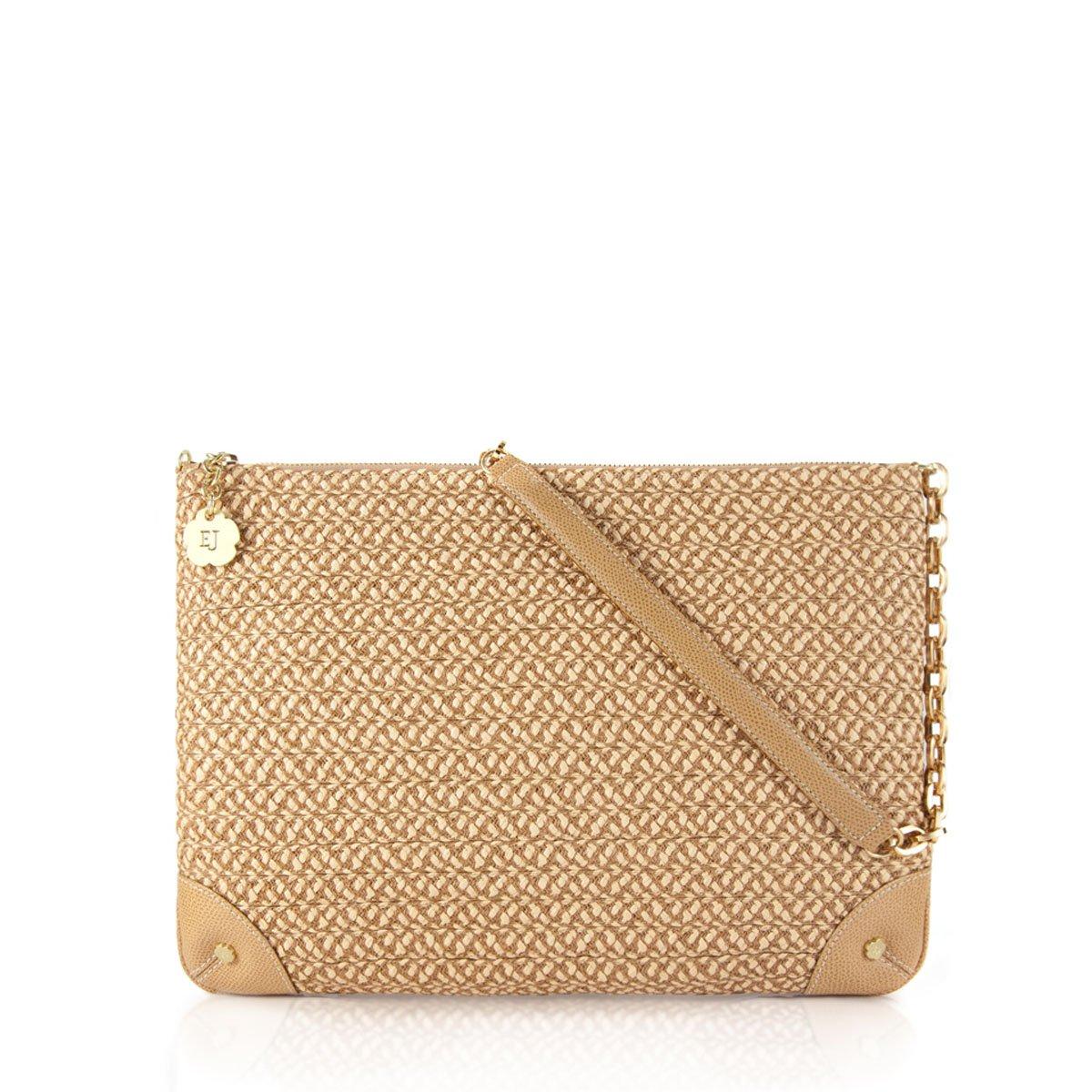 Eric Javits Luxury Fashion Designer Women's Handbag - Squishee Didi - Peanut