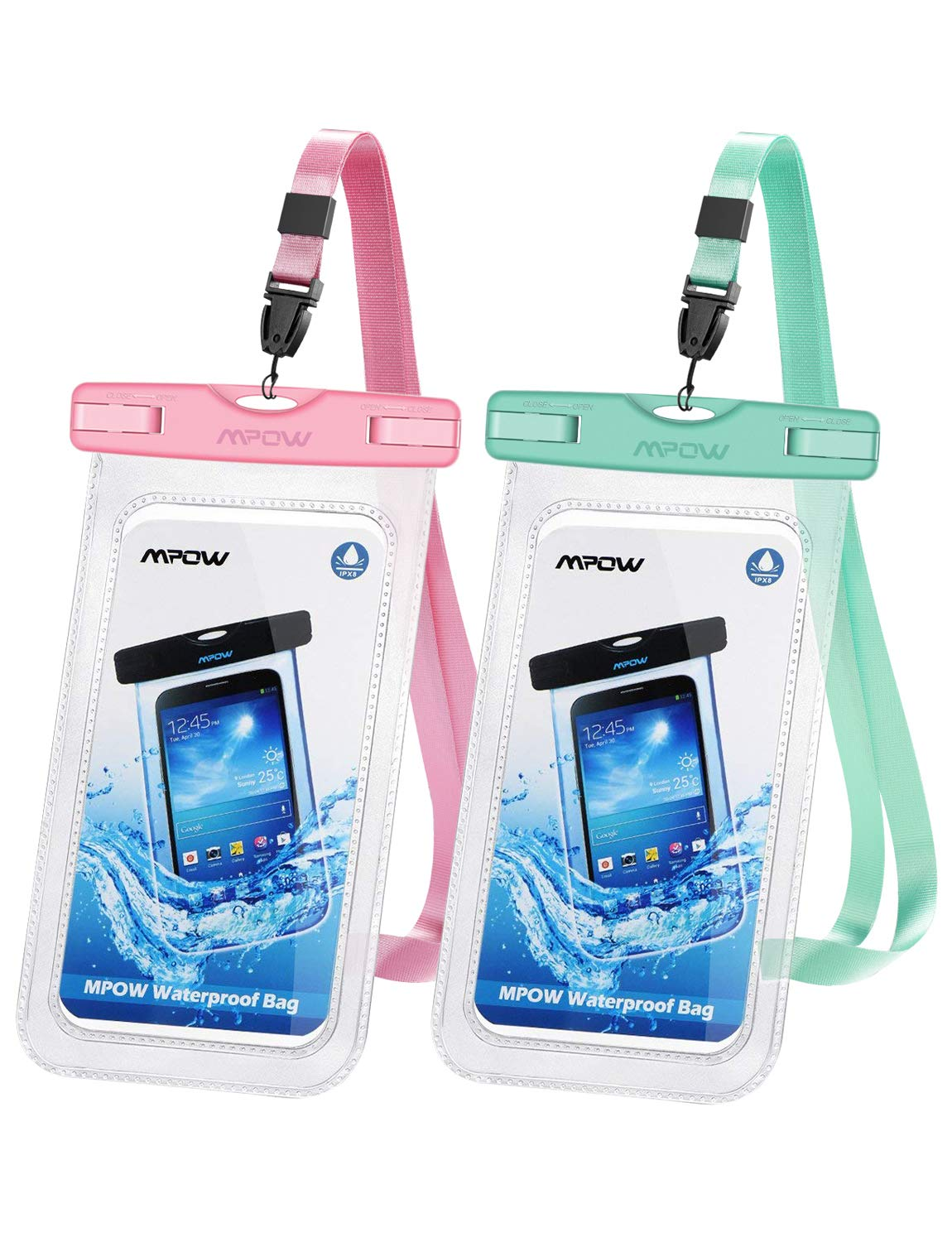 info for 0baf6 e25be Mpow 097 Universal Waterproof Case, IPX8 Waterproof Phone Pouch Dry Bag  Compatible for iPhone Xs Max/XR/X/8/8P/7/7P Galaxy up to 6.5