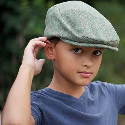 Amazon.com  Little Lids Boys Irish Green Wool Flat Scally Cap Kids Newsboy  Ivy Hat (Small)  Clothing 82d5f8ceca8e