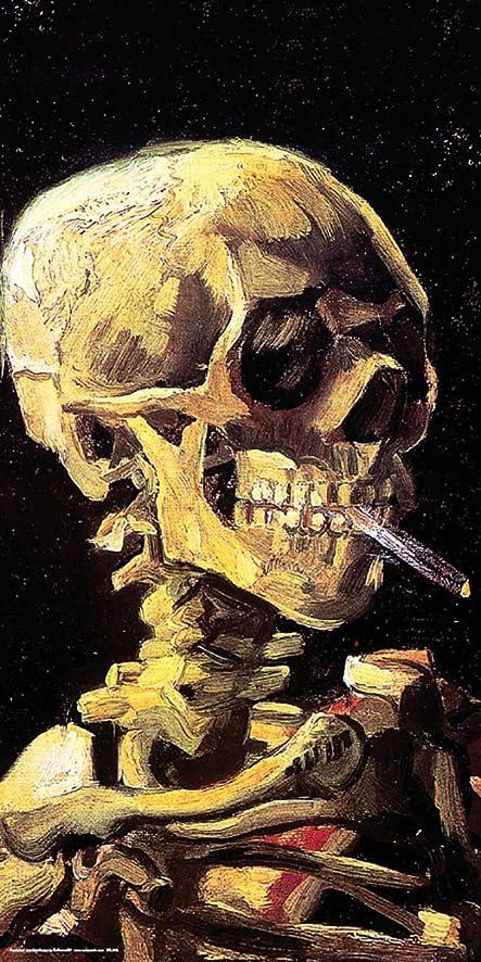 Amazon.com: Vincent Van Gogh Skull Cigarette Decorative Fine Art ...