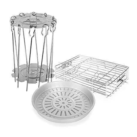 Klarstein • VitAir • Accesorio Freidora • Set 3 piezas • Acero inoxidable • Aluminio fundido