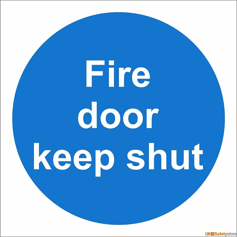 Door Sign u0027Fire Door Keep Shutu0027 100x100 Self Adhesive Amazon.co.uk DIY u0026 Tools  sc 1 st  Amazon UK & Door Sign u0027Fire Door Keep Shutu0027 100x100 Self Adhesive: Amazon.co.uk ...