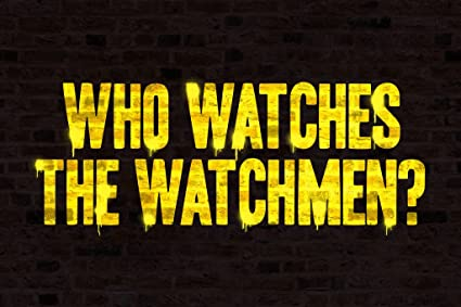d68df59bc Amazon.com: Who Watches The Watchmen Graffiti Poster 12x18 inch ...