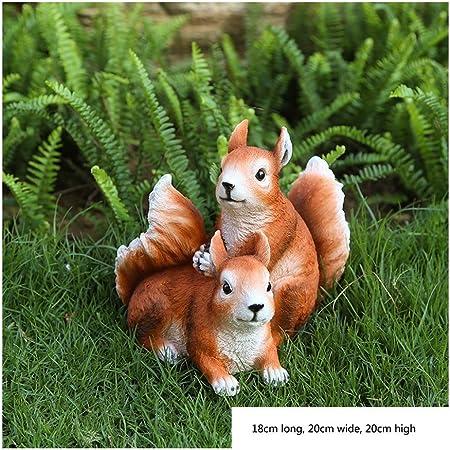 Luyiyi Animal Little Squirrel Patio del jardín Decoración jardín de Infancia (Color : D): Amazon.es: Hogar