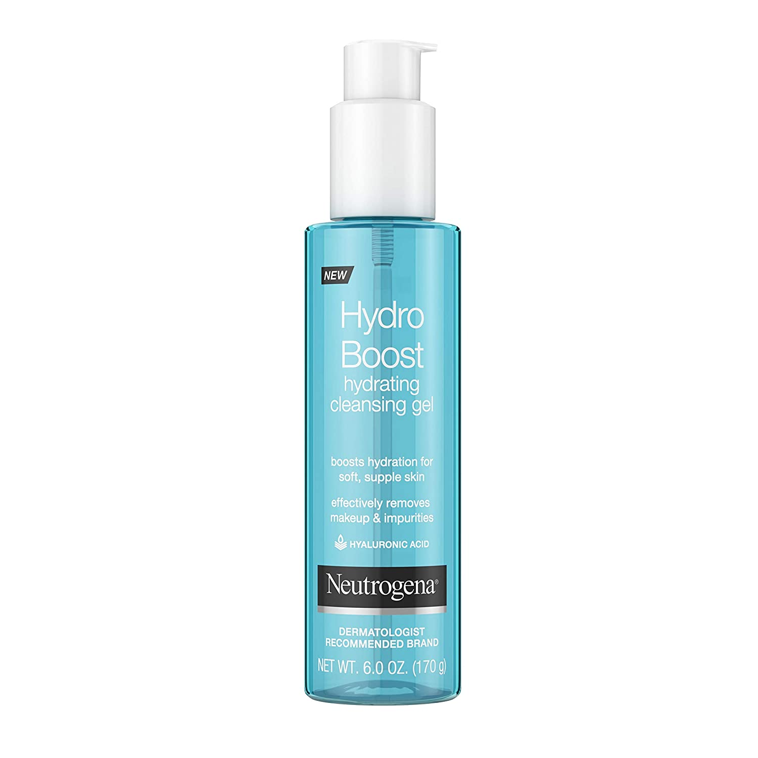 Neutrogena Hydro Boost Lightweight Hydrating Facial Cleansing Gel for Sensitive Skin, Gentle Face Wash & Makeup Remover with Hyaluronic Acid, Hypoallergenic & Non Comedogenic, 6 oz: Beauty