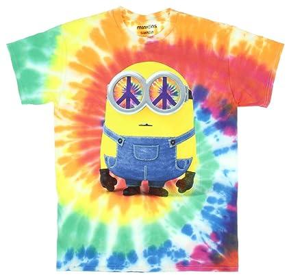 Minions Hippie Minion Mens Tie Dyed T Shirt Small