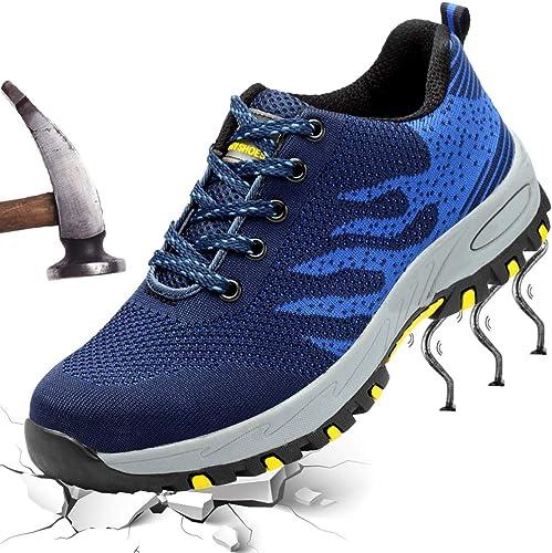 Amazon.com: XYZDOUBLE - Zapatos de seguridad de acero para ...