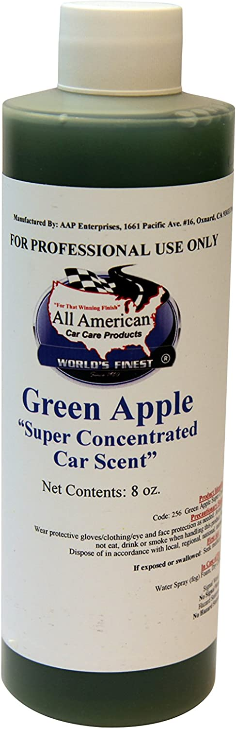 Super Concentrated Car Scent Air Freshener - Green Apple - Mix to Make 1 Gallon