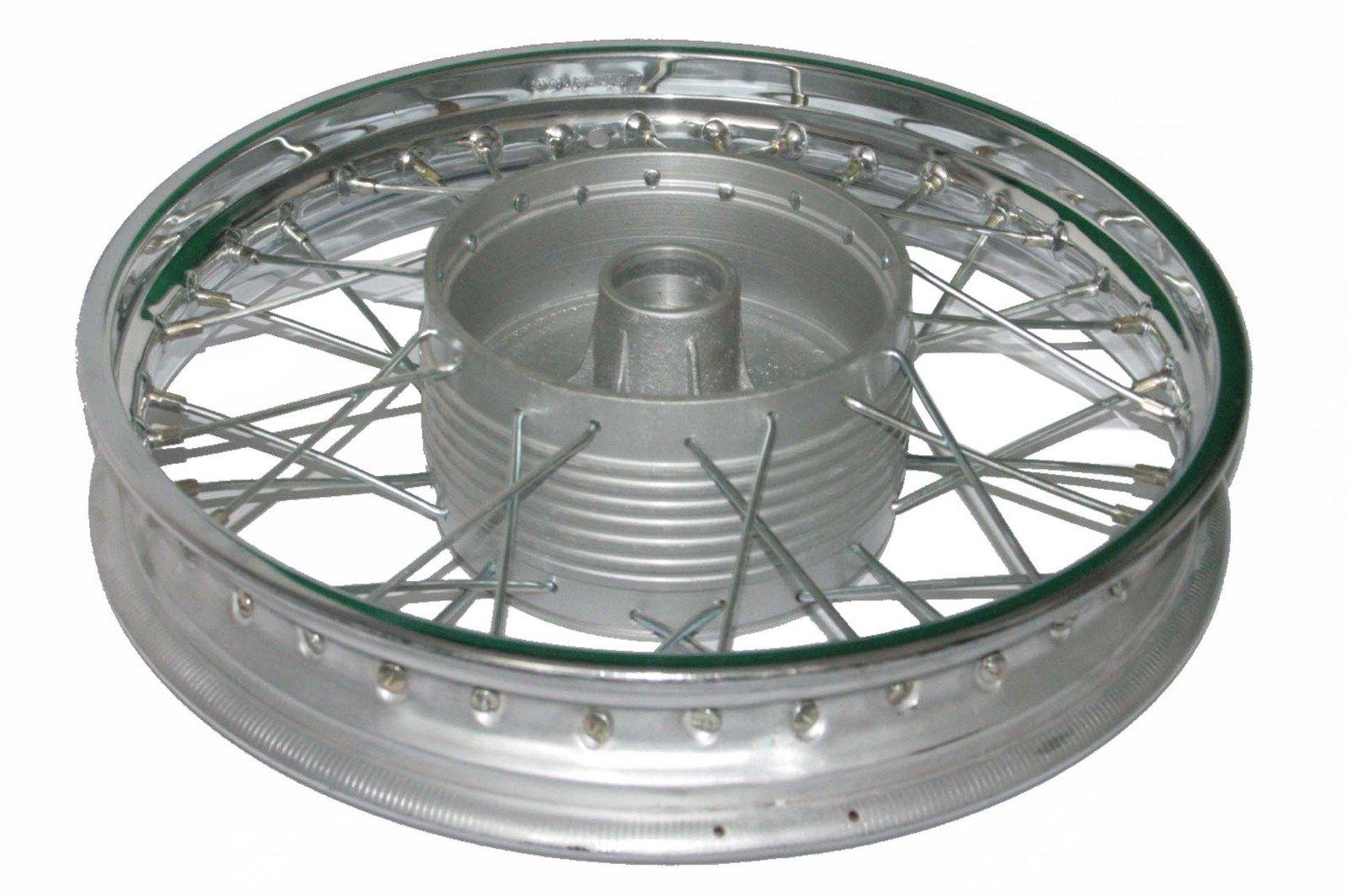 Enfield County Chrome Plated Complete 16'' Wm2 Jawa 250 350 Cw 36 Holes Wheel Rim + Spokes