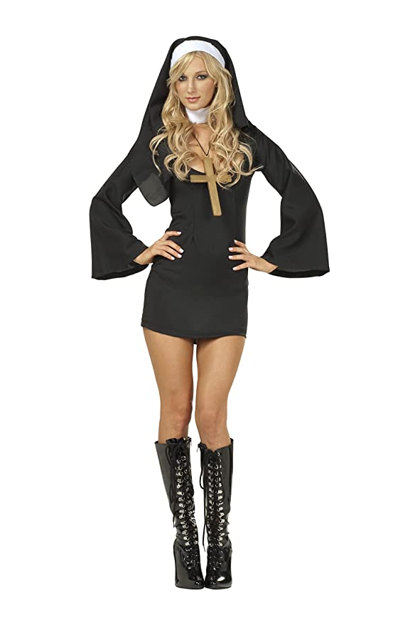 Amazon rg costumes womens sexy nun clothing solutioingenieria Image collections