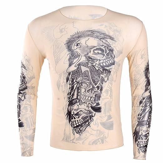 db10494adc22 FEESHOW Men Sport Round Neck Sleeveless Cycling Fitness Print T-Shirt Tattoo  Tank Tops Nude