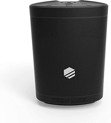 Tech-Life Boss Portable Bluetooth Speaker- Heavy Bass, 35 Watts, Premium Outdoor Party Speker W Speakerphone, Siri and Google Assitant Multi-Link 100 Speakers, 300 ft Wireless Range, IPX5