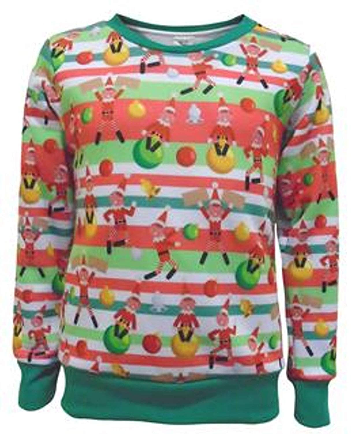 Christmas Jumper Boys Festive Elf Kids Sweatshirt