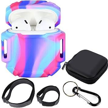 Moretek Sports Skin Cover Case Estuche de Silicona Suave a Prueba de Golpes para Apple AirPods Charging Case (Colorful): Amazon.es: Electrónica