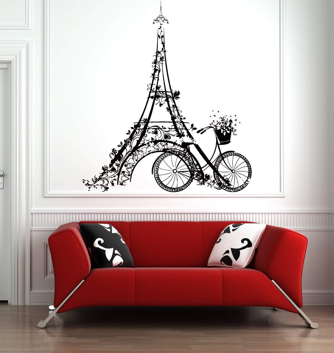 Paris Wall Decal | Paris Skyline Wall Sticker | Eiffel Tower Wall Art | Eiffel Tower Wall Decor PR3
