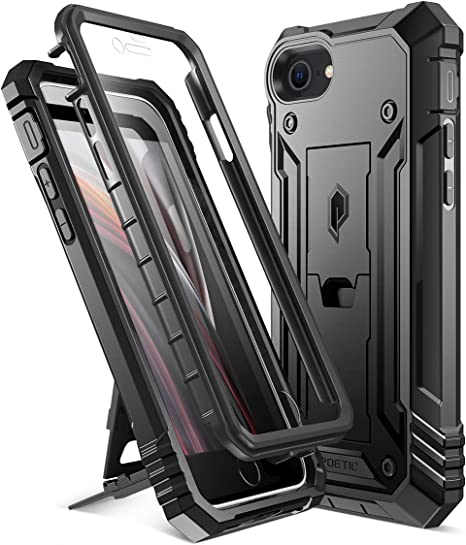 Poetic Revolution Designed Case for iPhone SE 2020 (2nd Gen), iPhone 8, iPhone 7, Full-Body Rugged Dual-Layer Shockproof Protective Cover with ...