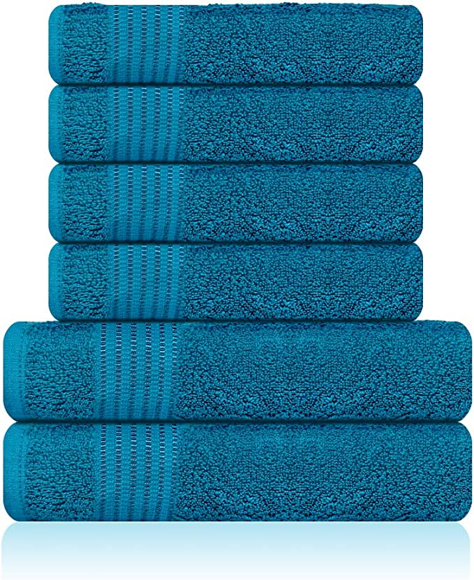 Lazzaro Home - Juego de toallas de algodón egipcio, 2 toallas de ...