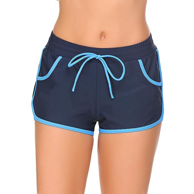 Meaneor_Fashion_Origin Badeshorts Damen Kurz Schwimmshorts Badehose Bikinihose UV Schutz Schwimmen Wassersport Boardshorts Ho