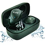 iLuv TB100 Dark Green True Wireless Earbuds Cordless in-Ear Bluetooth 5.0 with Hands-Free Call MEMS Microphone, IPX6 Waterpro